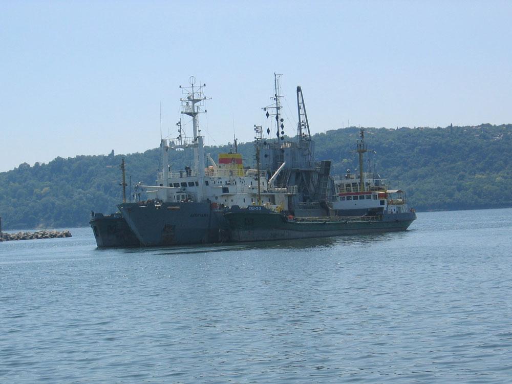 Varna Limanı önünde gemiler