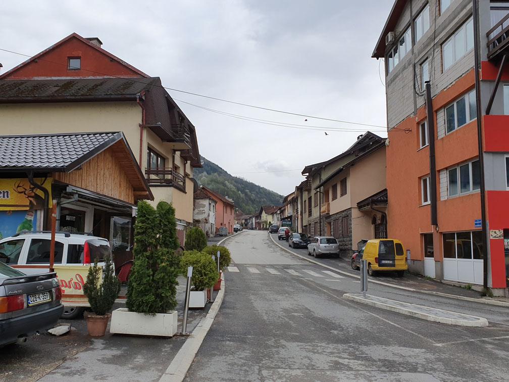 Srebrenitsa şehir merkezi
