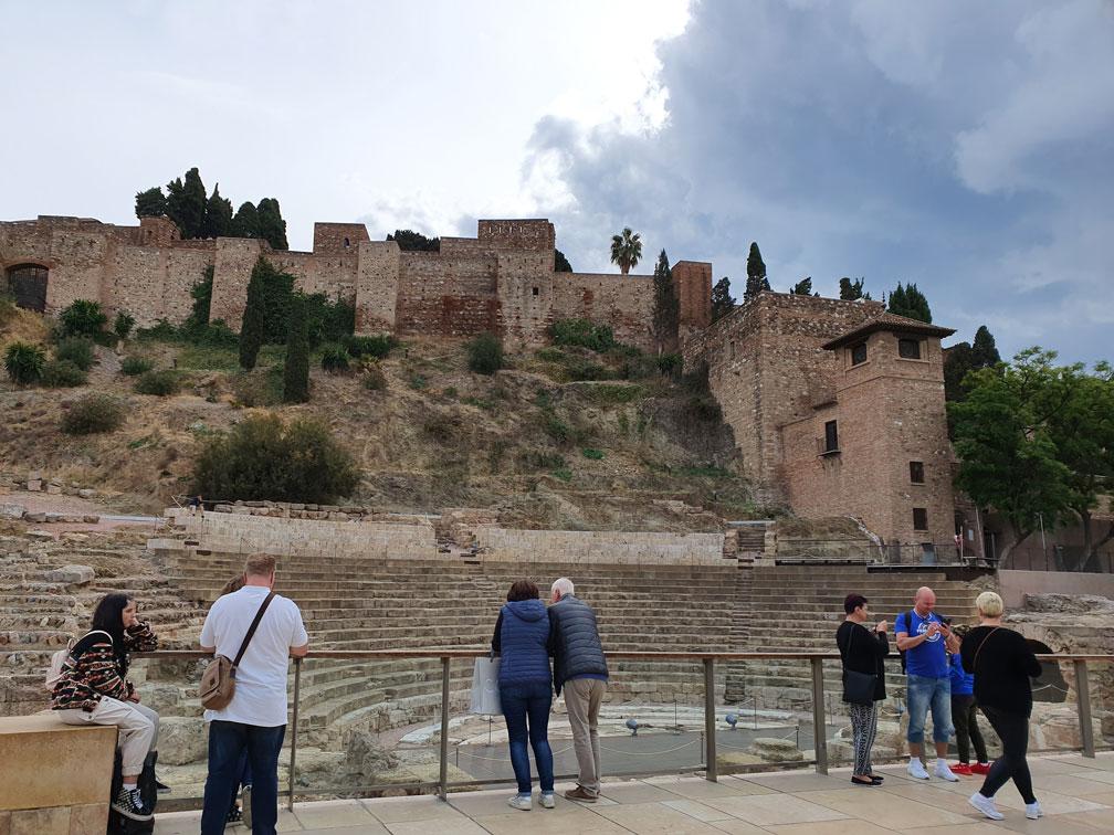 Malaga'da Roma Tiyatrosu ve Alcazaba