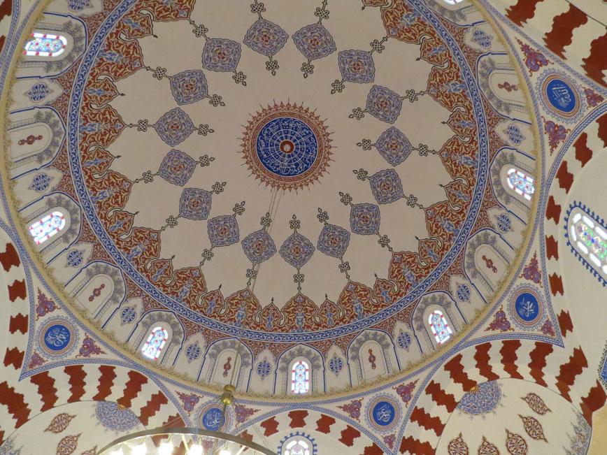 Sofya'daki Banyabaşı Camii'nin tavan süslemeleri