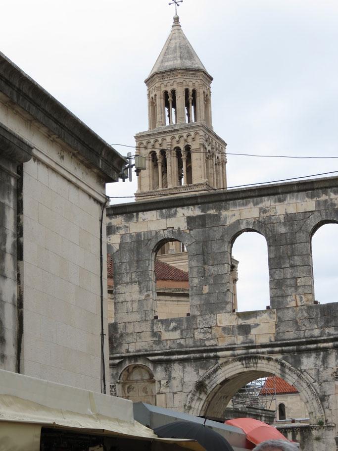 Hırvatistan Split'te Eski Şehir bölgesi