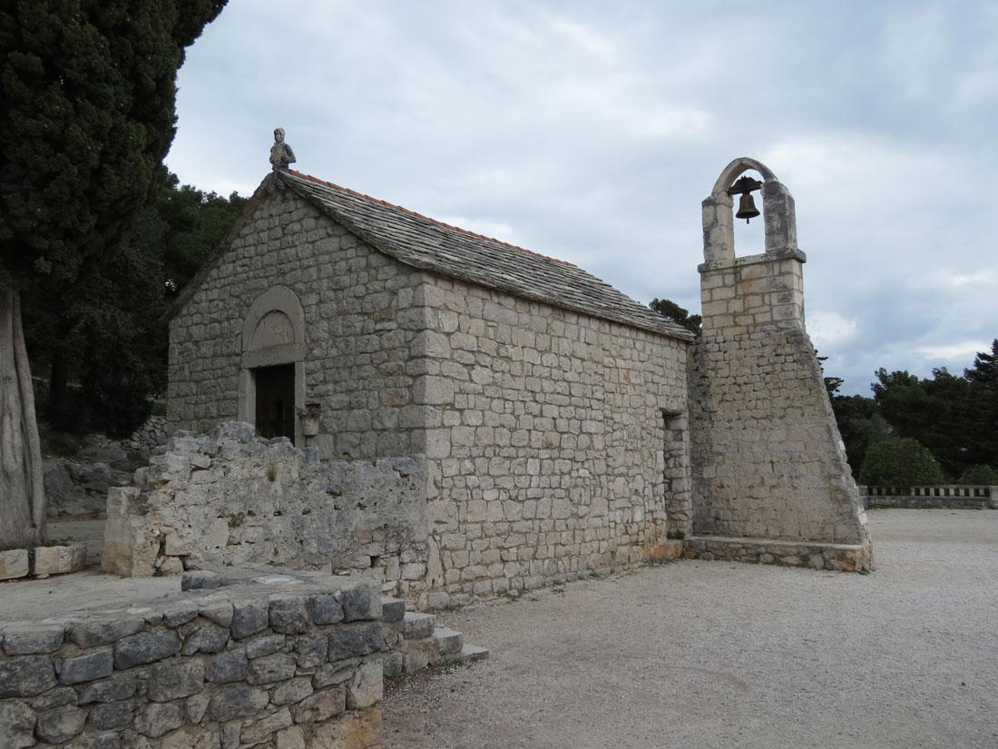 Hırvatistan Split'te kırsal bir kilise örneği