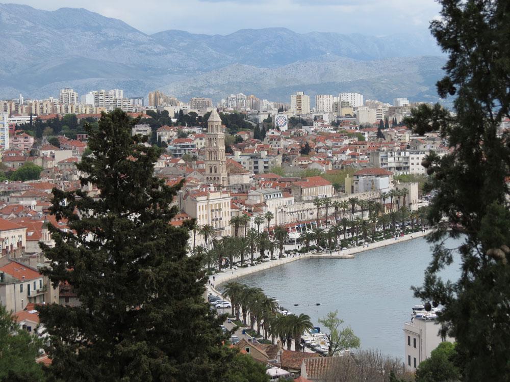 Marjan Tepesi'nden Split'in tarihi bölgesi
