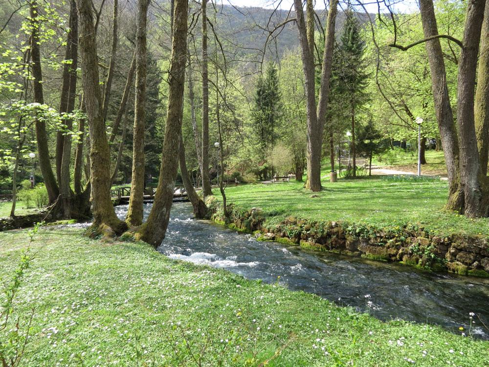 Vrelo Bosne'den bir görünüm