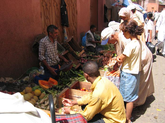 Medina'da bir pazar yeri