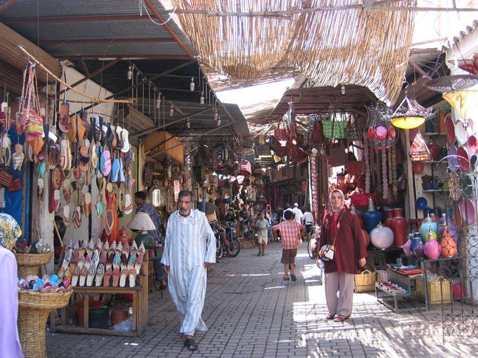 Marakeş'in Medina (Eski Şehir) bölgesi
