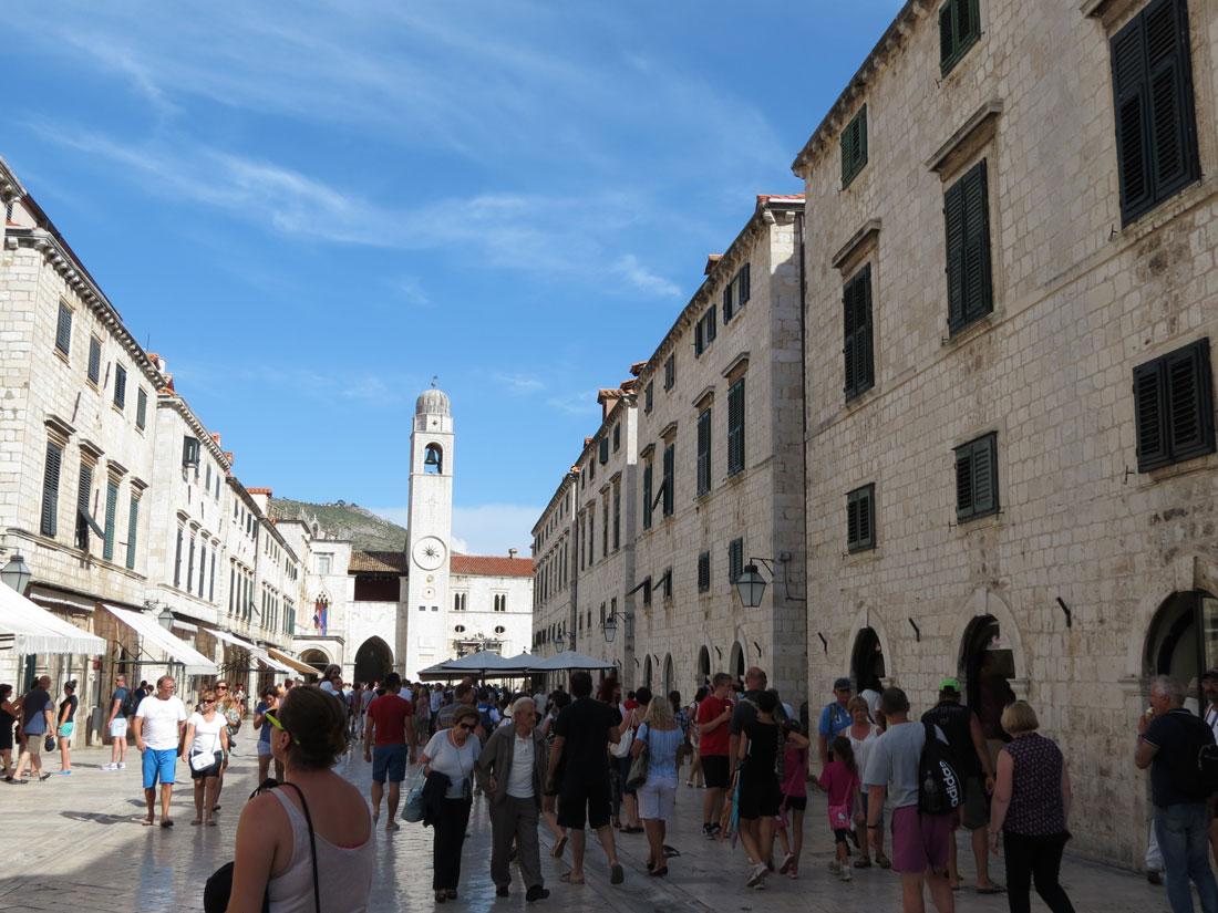 Dubrovnik surları içinde Eski Şehir bölgesi