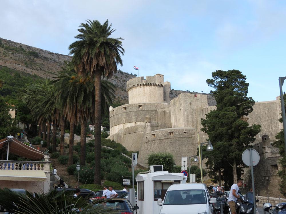Dubrovnik Kalesi'nden bir görünüm