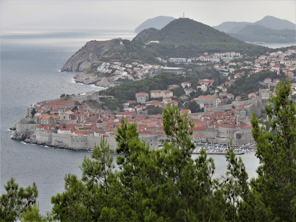 Dubrovnik Eski Şehir bölgesinin görünümü