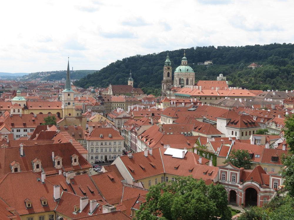 Prag'da Küçük Şehir (Malá Strana) manzarası