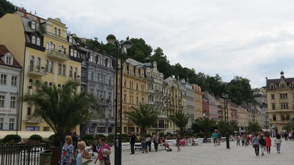 Karlovy Vary'den bir görünüm