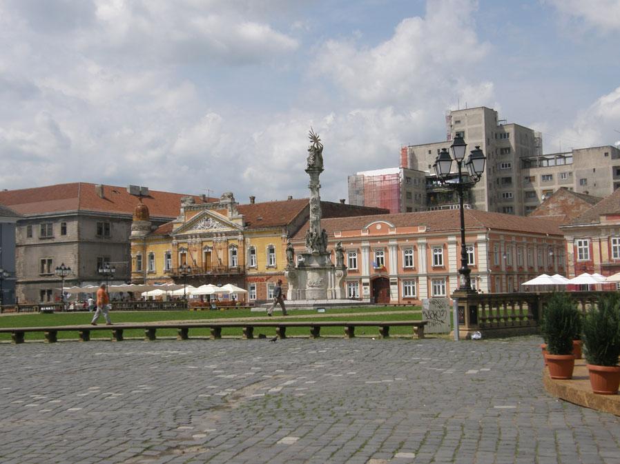 Romanya'nın Temeşvar şehrinde Birlik Meydanı