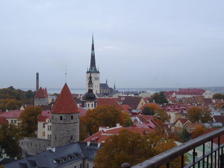 Seyir terasından bir Tallin manzarası