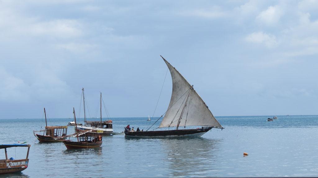 Zanzibar'ın balıkçı tekneleri
