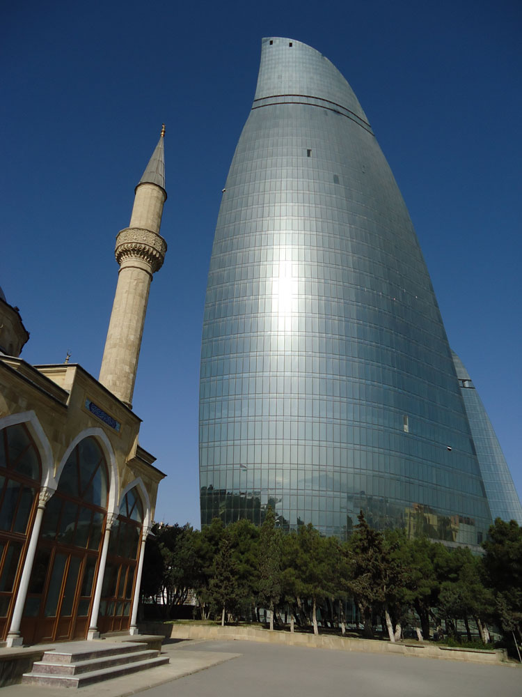 Şehitlik Camii ve Alev Kuleleri