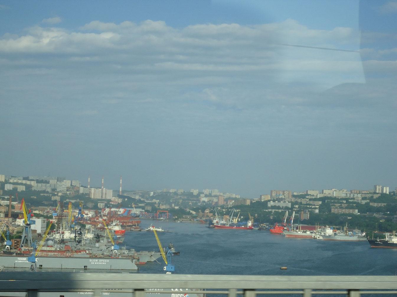 Vladivostok'ta liman manzarası