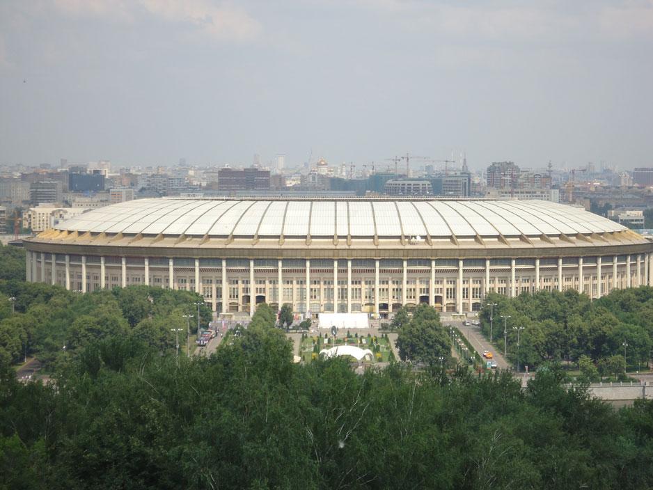 Serçe Tepeleri'nden Lujniki Stadyumu'nun görünümü