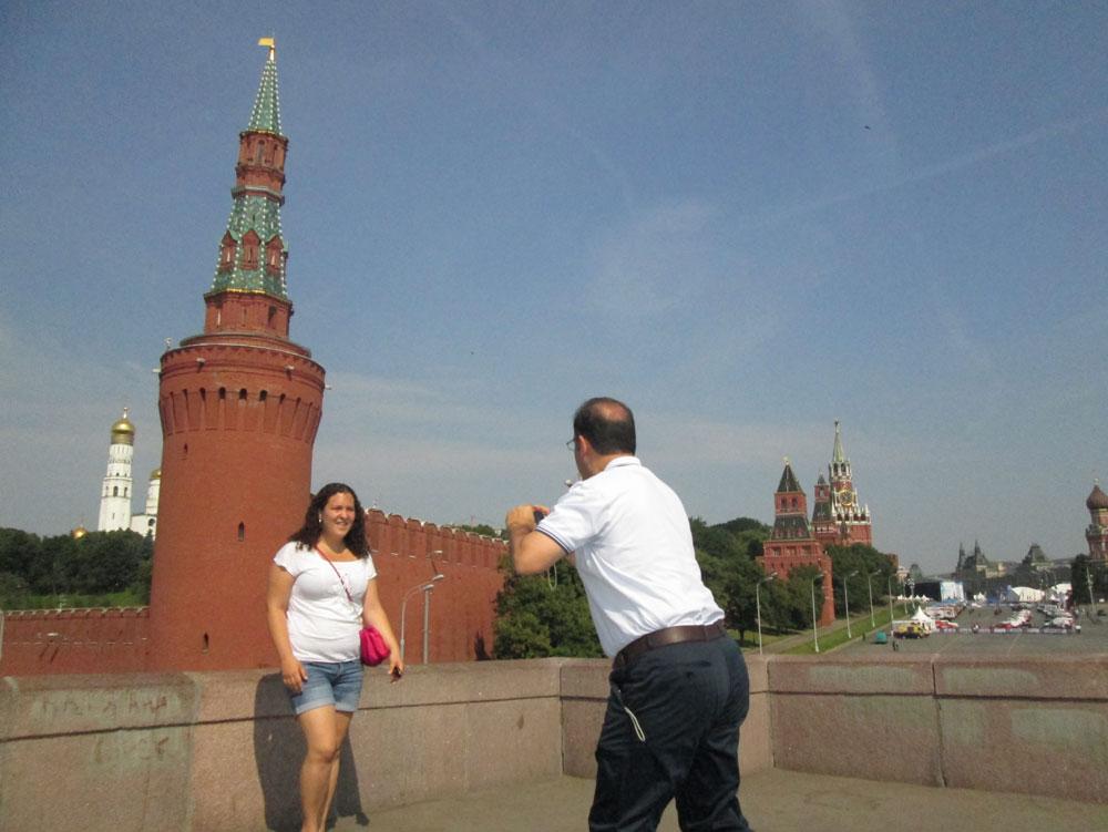 Resmini çekmemizi isteyen turist hanımefendinin bu ricasını geri çeviremezdik...