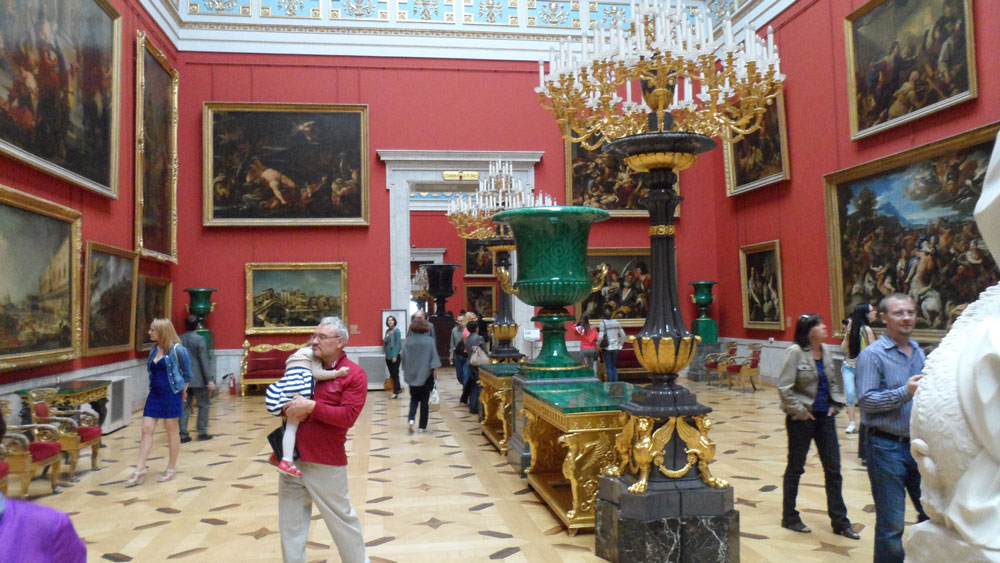 Hermitage Müzesi'nden bir görünüm