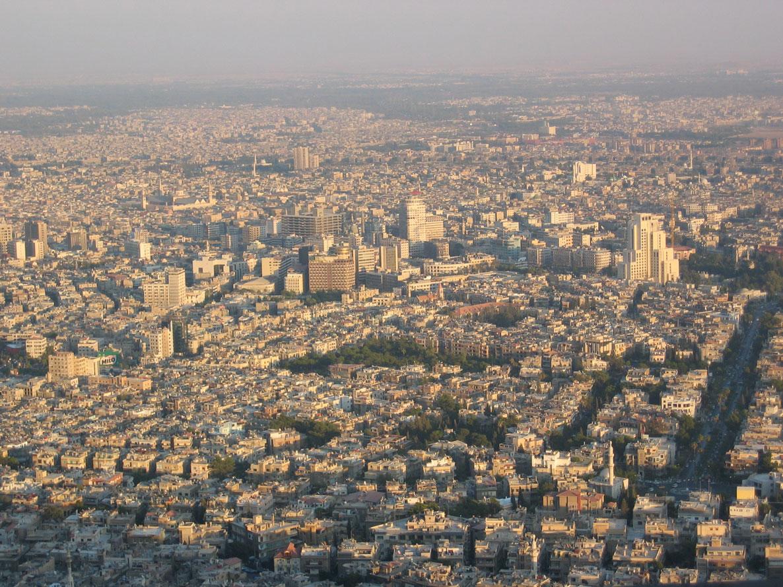 Kasiyun Dağı'ndan Şam panoraması