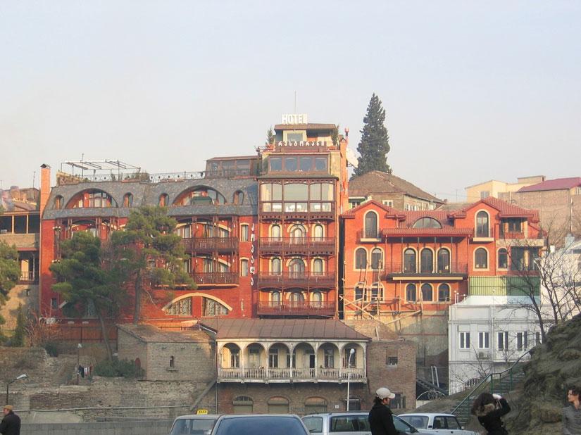 Eski Tiflis'in renkli evleri