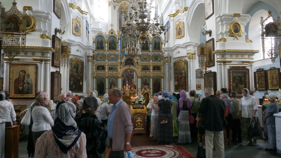 Kutsal Ruh Katedrali içerisinde ayin vakti...