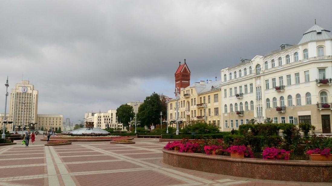Minsk'te Özgürlük Meydanı