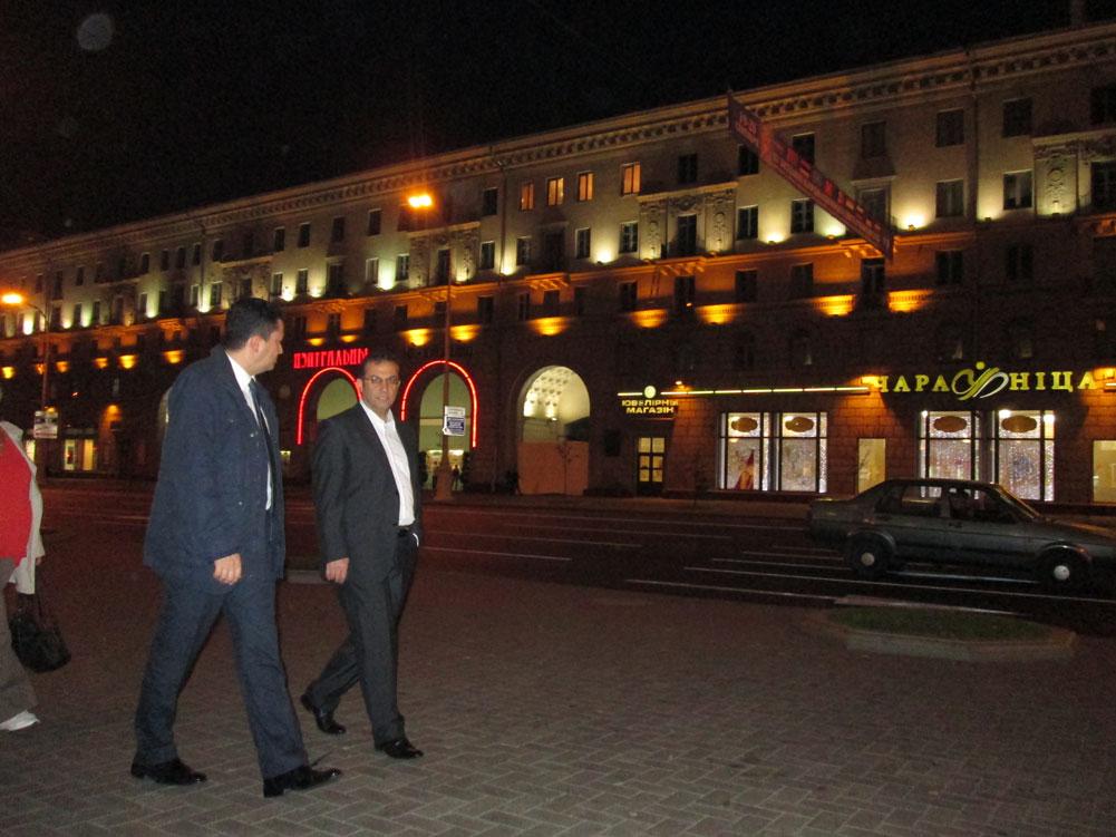 Minsk'te akşam yürüyüşü