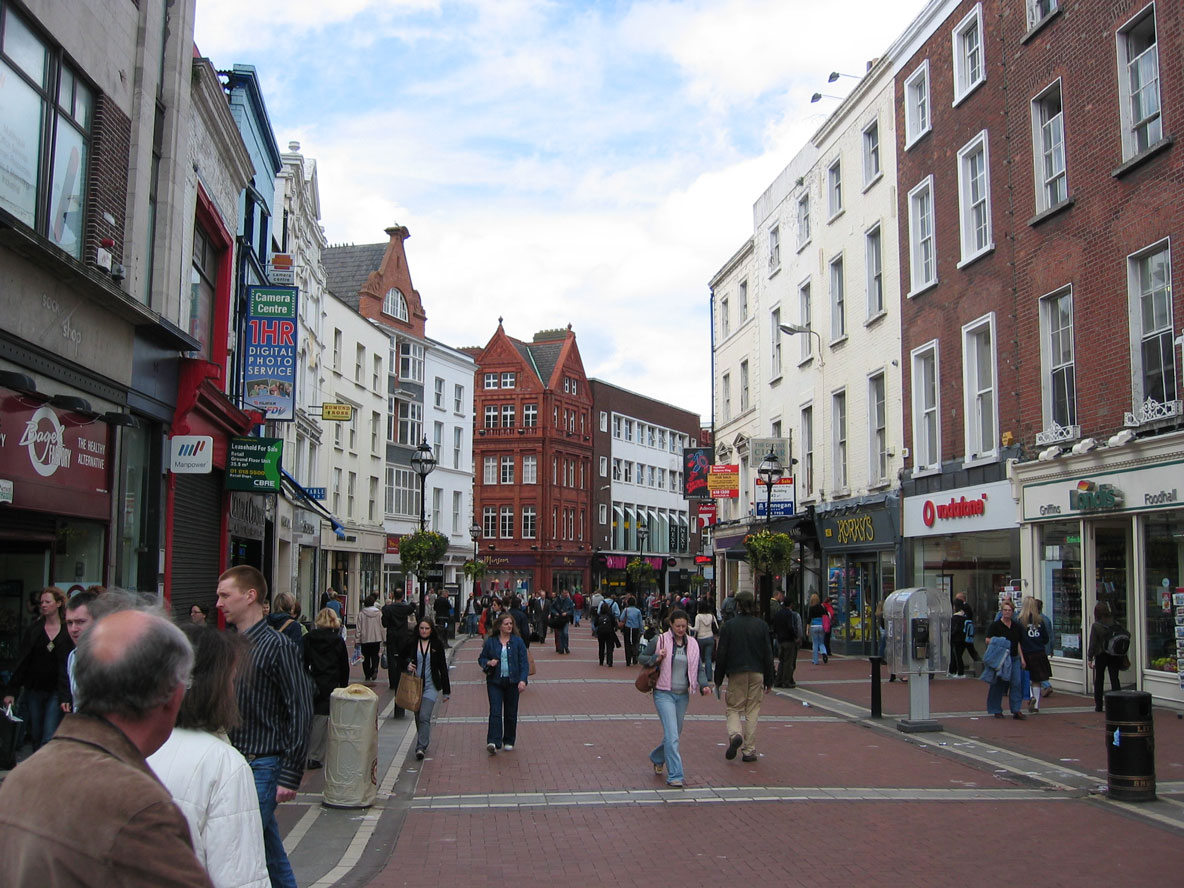 Dublin'in meşhur Grafton Caddesi