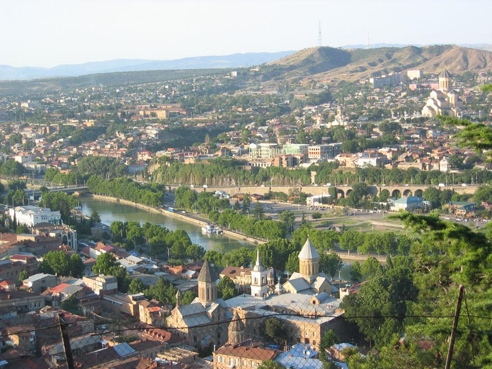 Tiflis'in genel görünümü
