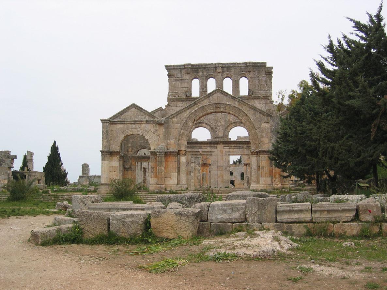 Türkiye hududuna çok yakın bir noktadaki Aziz Simeon Antik Kenti