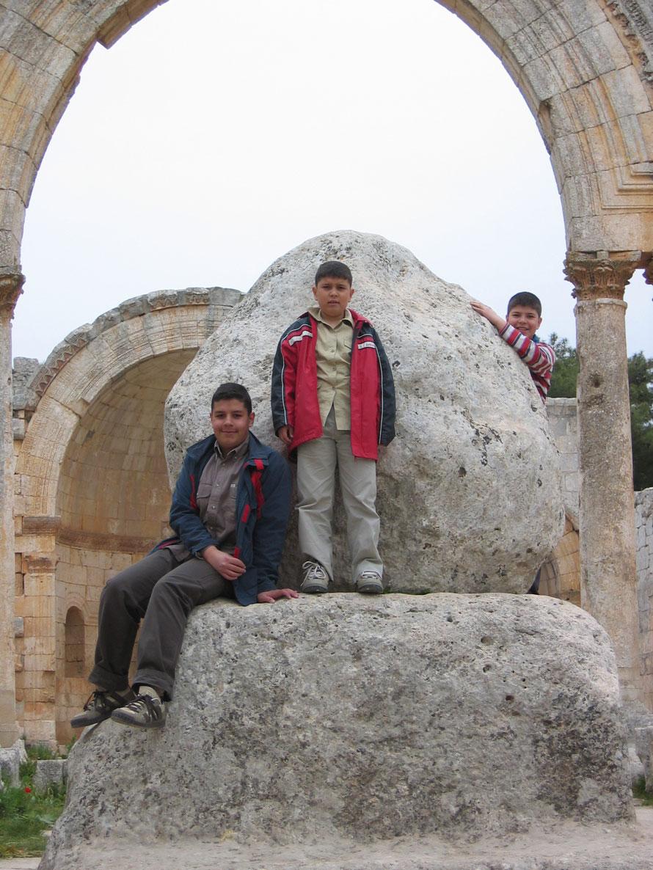 Aziz Simeon'un hayatını geçirdiği 18 m yüksekliğindeki sütun burada bulunuyormuş...
