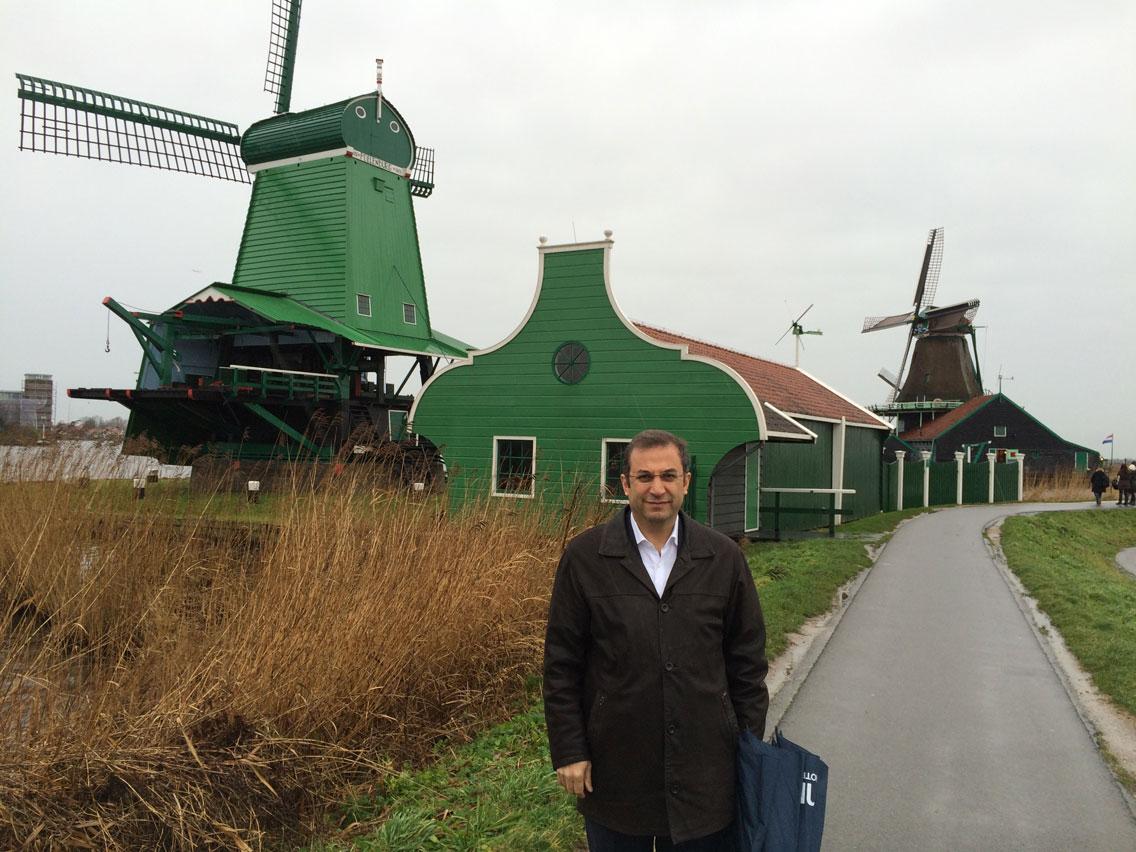 Yel değirmenlerinin süslediği Zaanse Schans açık hava müzesi