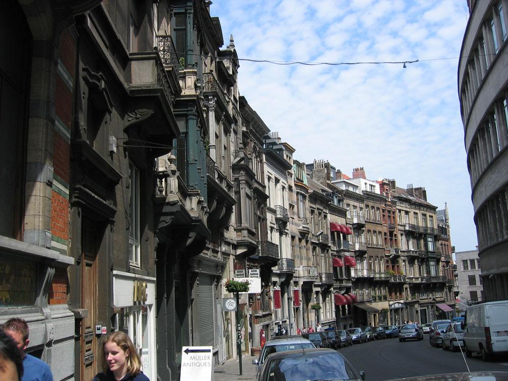 Brüksel'de bir sokak