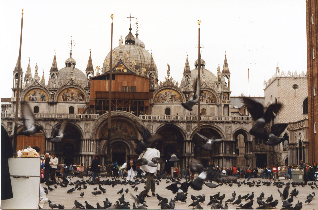San Marco Meydanı ve güvercinler