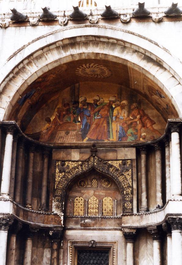 San Marco Bazilikası'nda Osmanlı tüccarlarının tasvir edildiği bir resim
