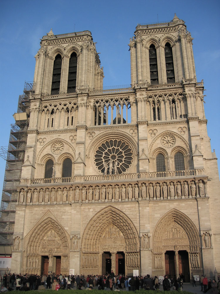 Notre Dame Katedrali'nin girişi