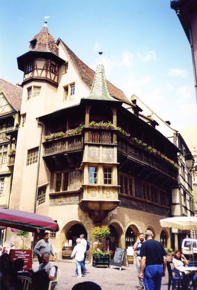 Strazburg yakınlarındaki Colmar'da tarihi Pfister Evi