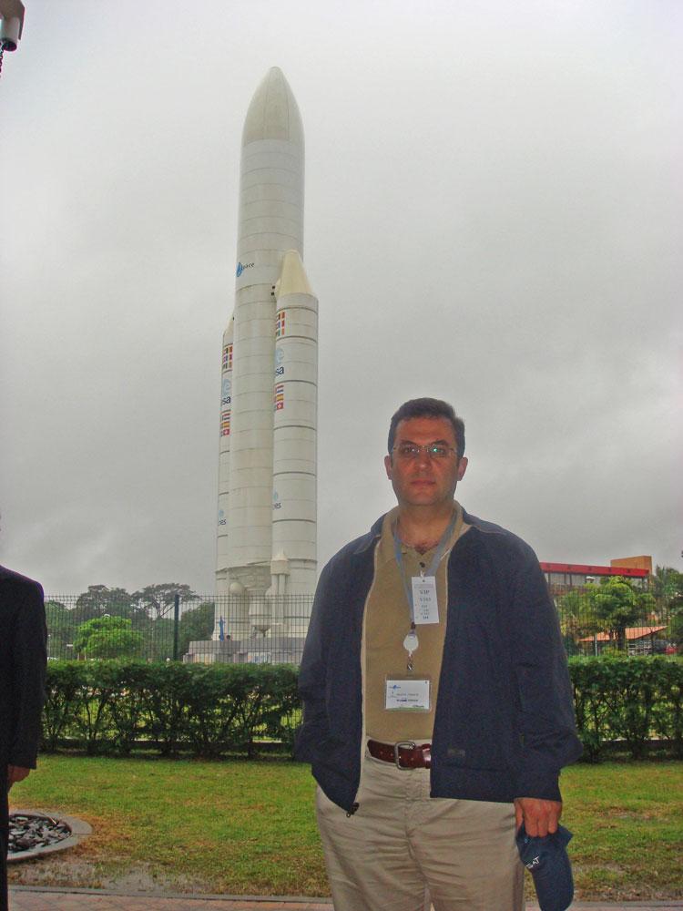 Fransız Guyanası'ndaki Uzay Merkezi'nde