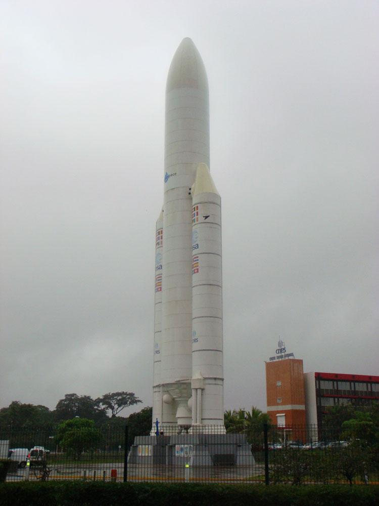 Kourou yakınlarında Guyana Uzay Merkezi