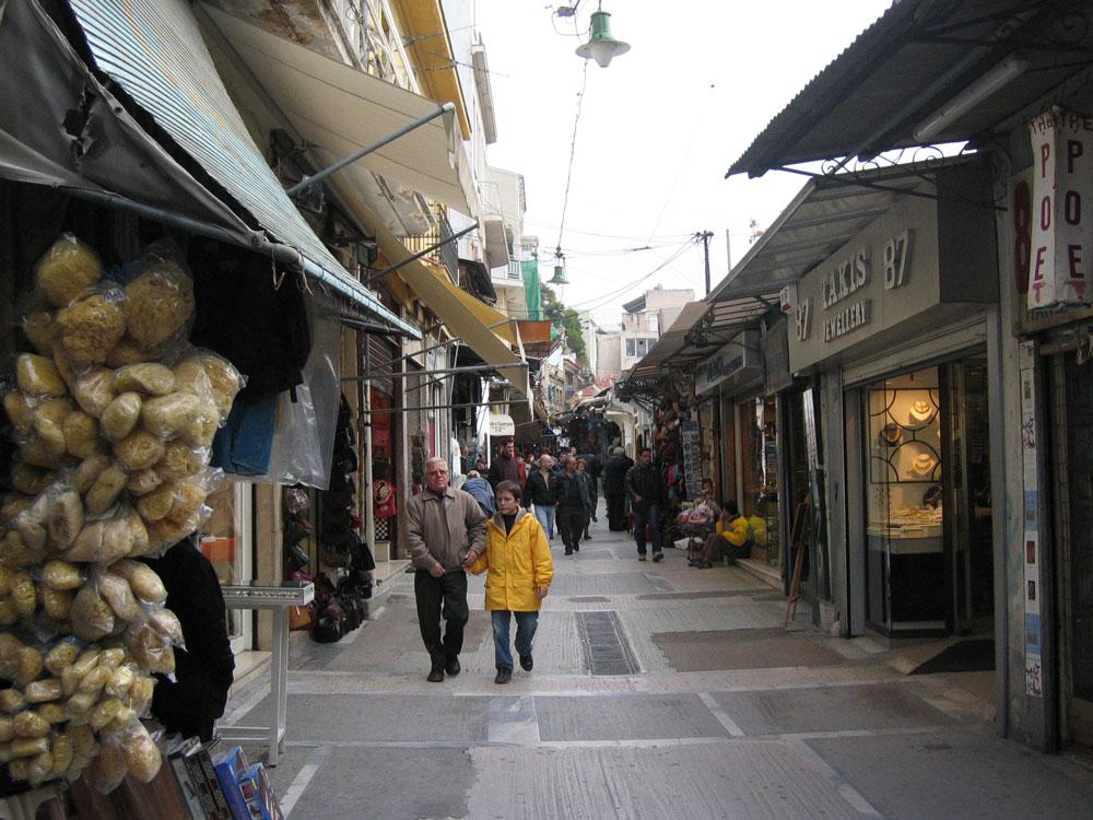 Atina çarşılarından bir görünüm