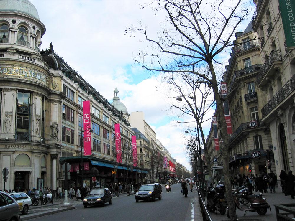 Paris'in lüks mağazalar bölgesi: Haussmann Bulvarı