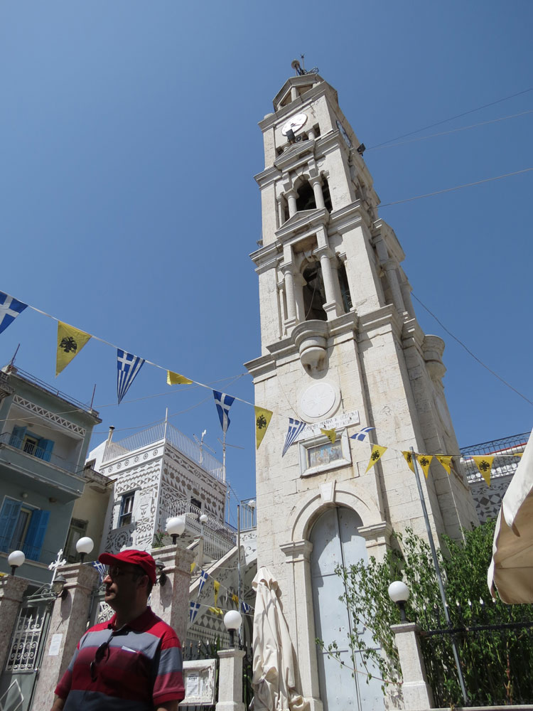 Sakız'ın Pirgi Köyü'nde çan kulesi