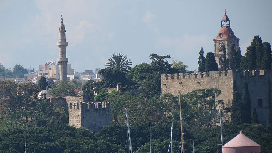 Limandan Rodos'un tarihi bölgesi