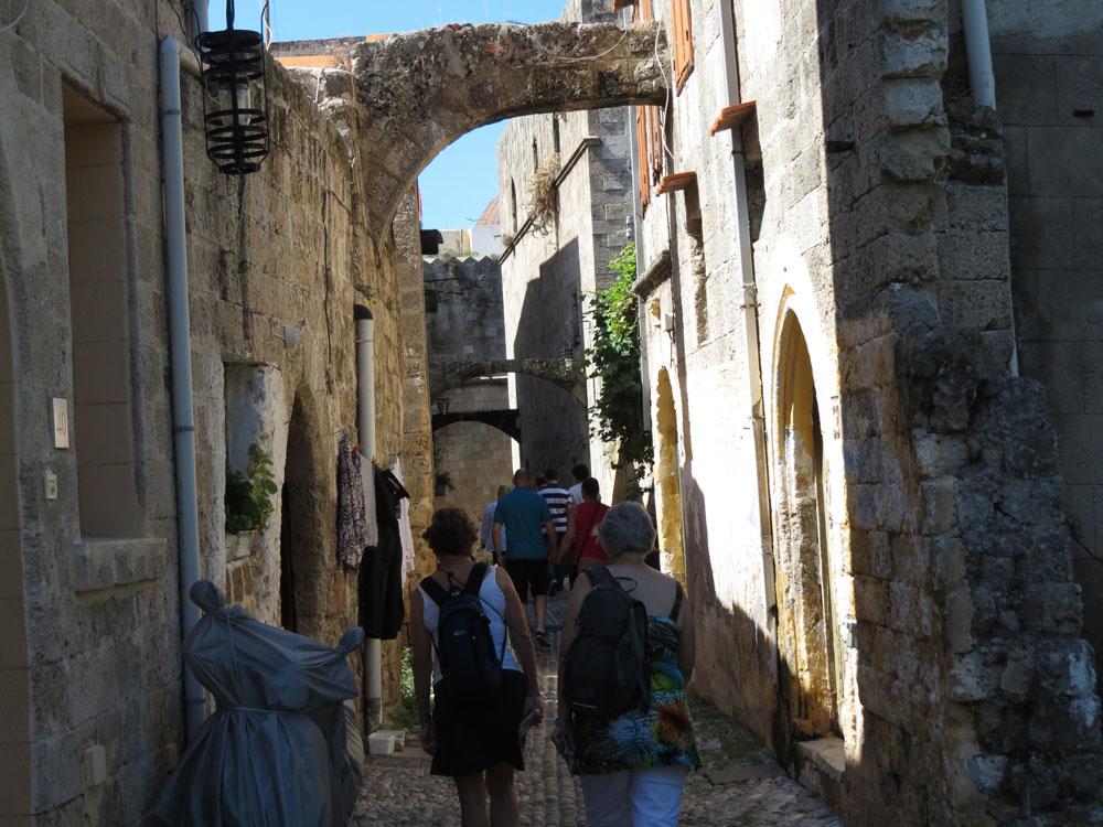 Tarihi Rodos sokakları