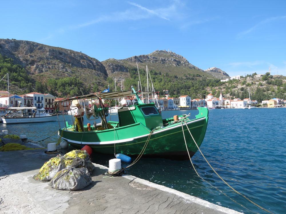 Meis'te balıkçı teknesi