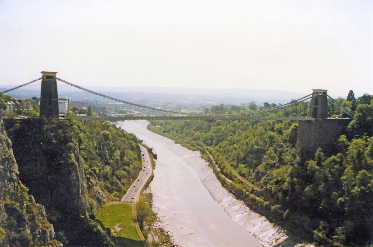 Bristol'da Clifton Asma Köprüsü