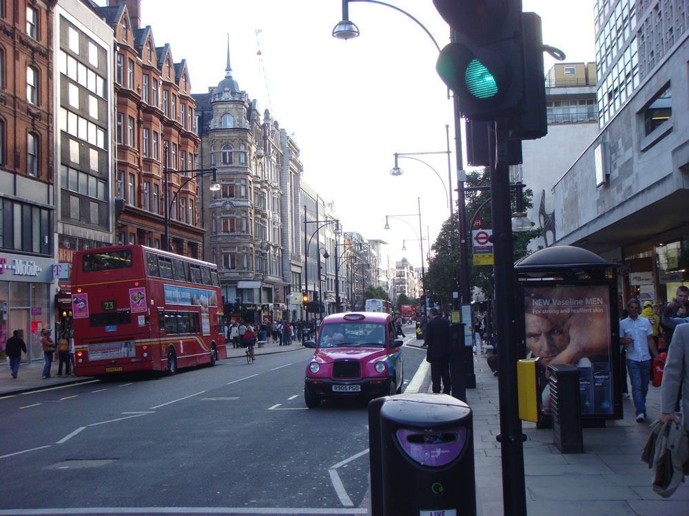 Bir Oxford Caddesi manzarası