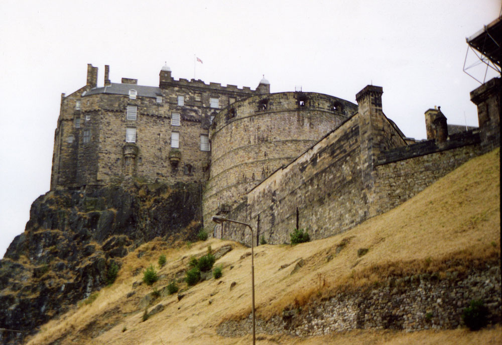 İskoçya'da Edinburgh Kalesi