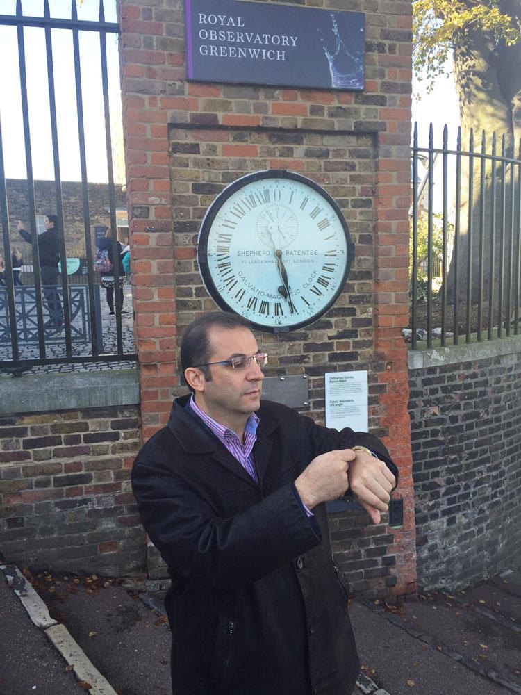 Hazır Greenwich'e gelmişken saatimizi ayarlayalım...